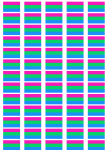 Polysexual Pride Flag Stickers - 65 per sheet